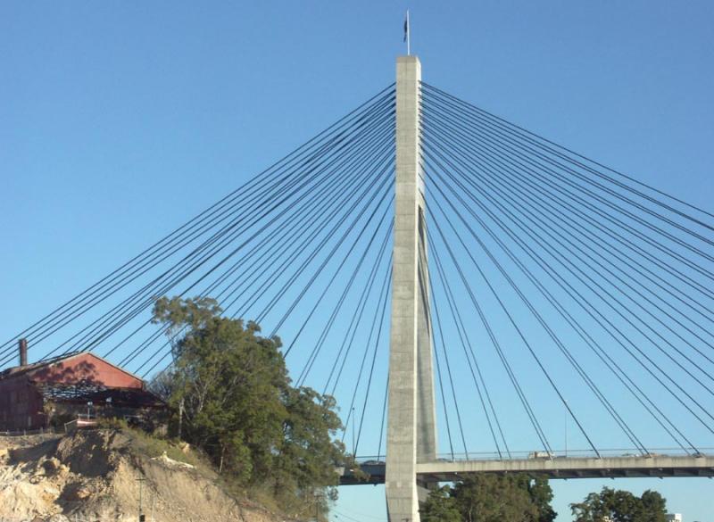 East pylon of Anzac Bridge