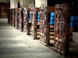 Row of benchends, St. Wyllow, Lanteglos-by-Fowey