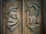 Carving on a benchend, St. Wyllow, Lanteglos-by-Fowey