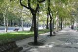 Avenida da Libertade with its sidewalks tessllated in black and white tile