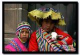 Mother, Son and Llama, Cusco, Peru