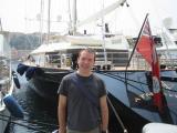 Geoff by a boat in Monaco