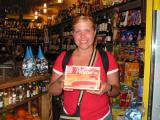 Nicki with a box of Pelletier crackers!