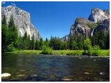 Yosemite -- Valley View with the Merced River