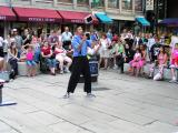 Street performer at Faneuil Hall