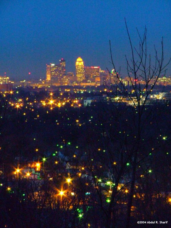 Louisville Sparkling in the Night