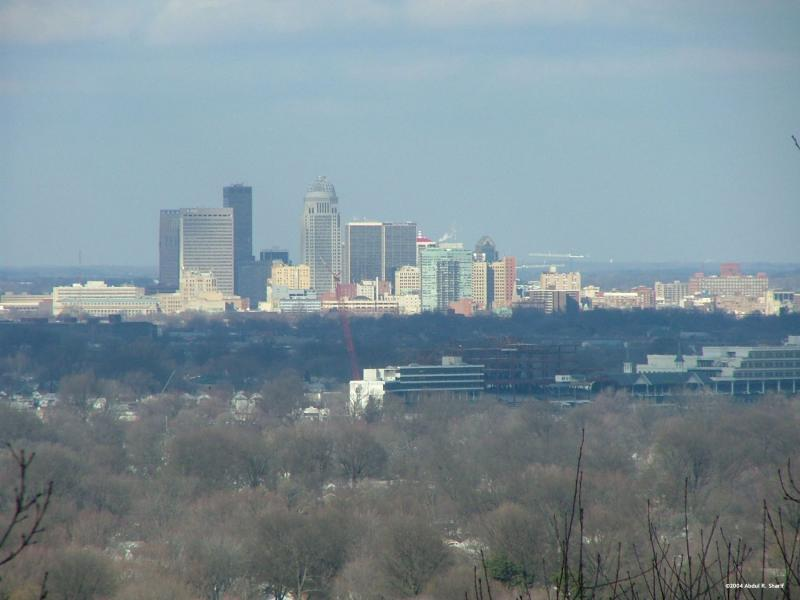 Louisville Skyline from Iroqoius Park