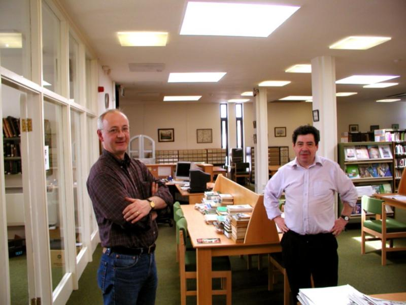 Local history librarians - Michael and Michael