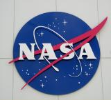 NASA emblem at the Kennedy Space Center