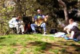 Impromptu concert in Central Park