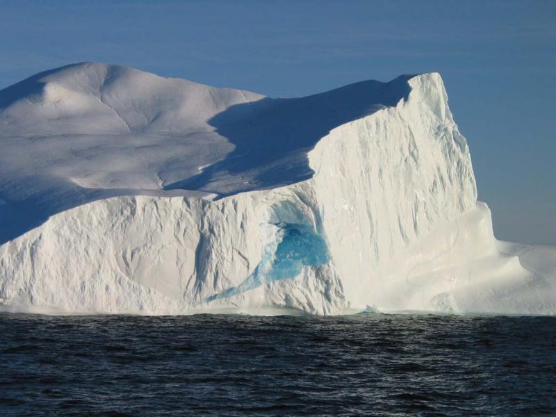 Blue ice inside Iceberg