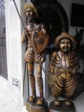 Woodcarvings at San Antonio de Ibarra