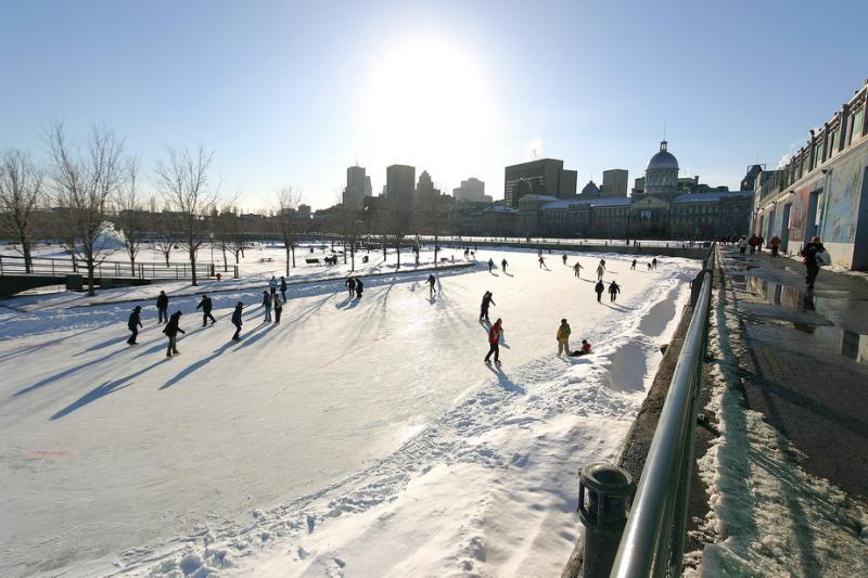 Ice Rink in the old Montreal Port