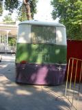 Bus as stage decor, at the Promenade