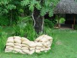 Sand Bags in the Garden