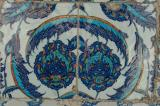 Iznik tiles and other pieces of Turkish earthenware