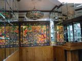 Tiffany glass throughout the Tavern