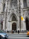 Closer view of St. Patrick's cathedral