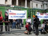 Sikhs demonstrate quietly against