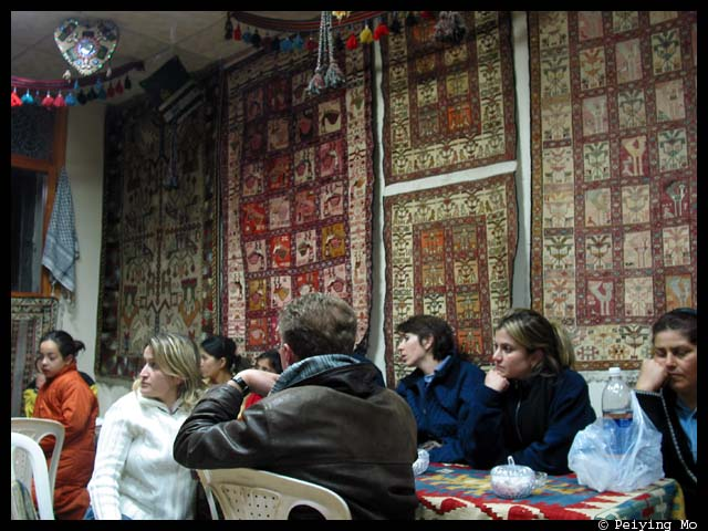 At 4 am at a tea house, watching documentary on the history of the site