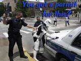Star Wars Stormtrooper meets his match