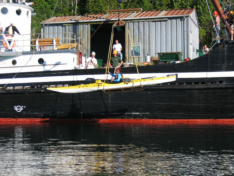 Karen Launching at Kyuquot