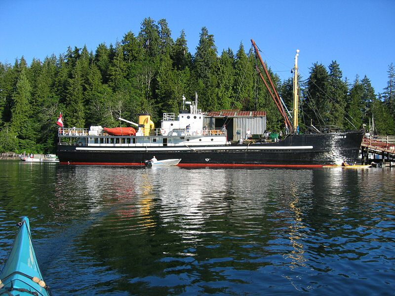 UChuck III Docked at Kyuquot