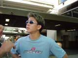 Kyle starting out on his journey ...to the USA Volleyball Boys National Championship, Junior Olympics 2004, in Austin, Texas