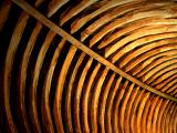 Barrel roof curved with age of St. Wyllow, Lanteglos-by-Fowey
