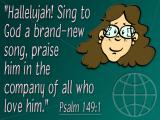 'Psalm 149v1' slide from the 'Youth 01' series