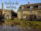 'Early in the morning' slide from the 'Cotswolds' series
