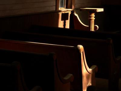 Interior, Methodist Church, Bodie, California, 2004