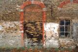 Colourful old barnwall