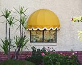 Yellow awning