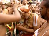 HH accepting Sri Parthasarathi perumal parivatta mariyadai