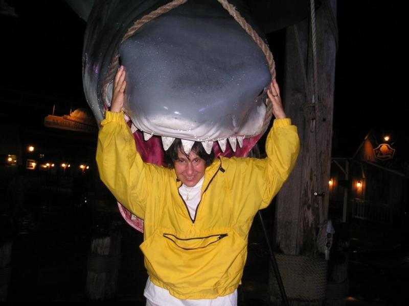 In the sharks mouth
