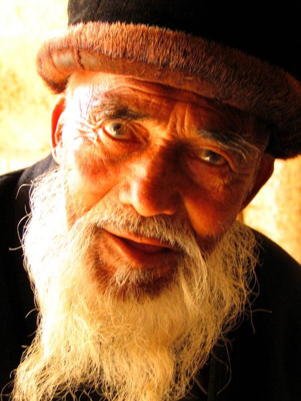 Very old man in Kashgar