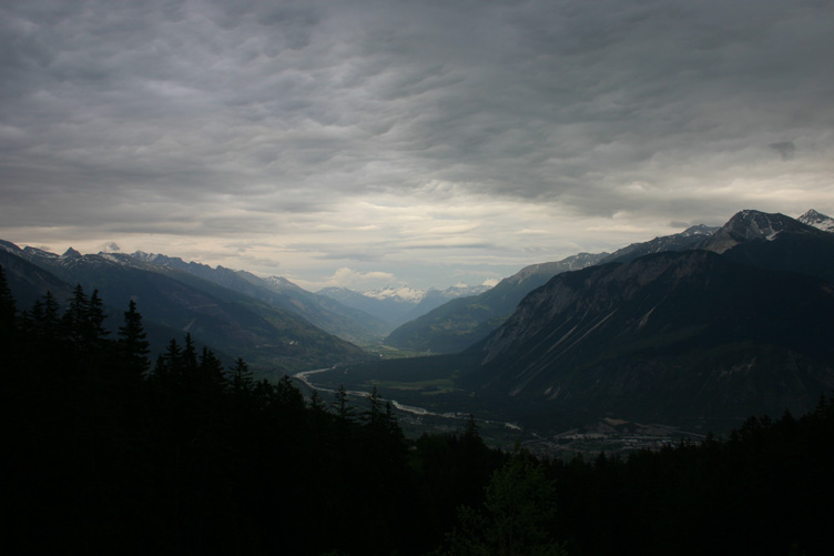 The Rhone valley from Crans Montana towards Visp
