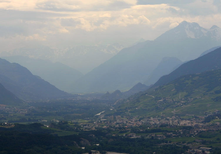 Looking towards Sion and Sierre from Leuk