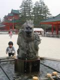 Child at the dragon fountain