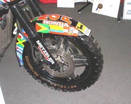 Emilio Scottos Globe Trotting Gold Wing Knobby Tires!