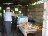 our make shift kitchen