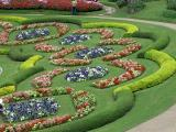 Mae Fah Luang Garden with decorated with thousand of flowers, Doi Tung