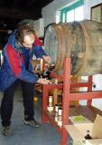 Islay - gavin pouring his bruichladdich single malt from the cask
