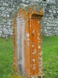 Islay - kildalton chapel lichen covered grave