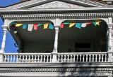 Balcony and bunting