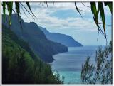 Napali Cliffs view from Kalalau Trail
