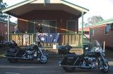 Harley parking only.  All others will be towed away !