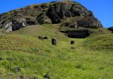 The quarry where moai were carved