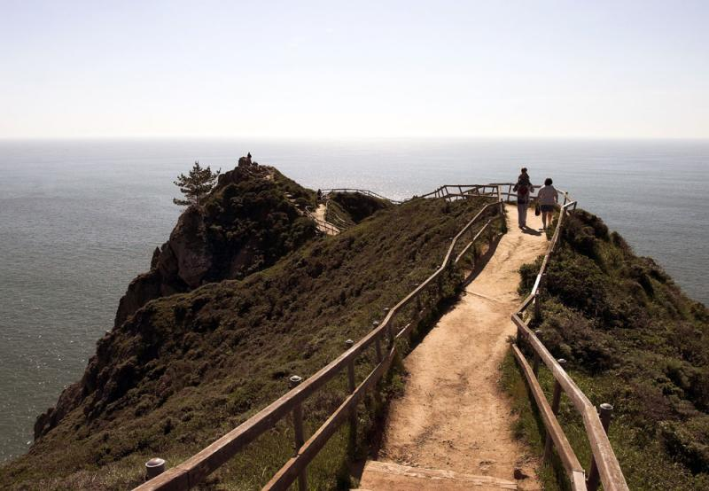 Trail To End Of Muir Beach Overlook